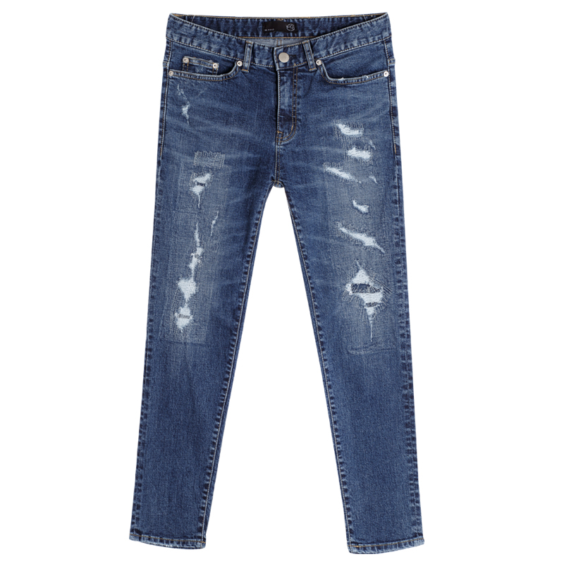 86RJ-1644 latex embroidery sakamoto jeans