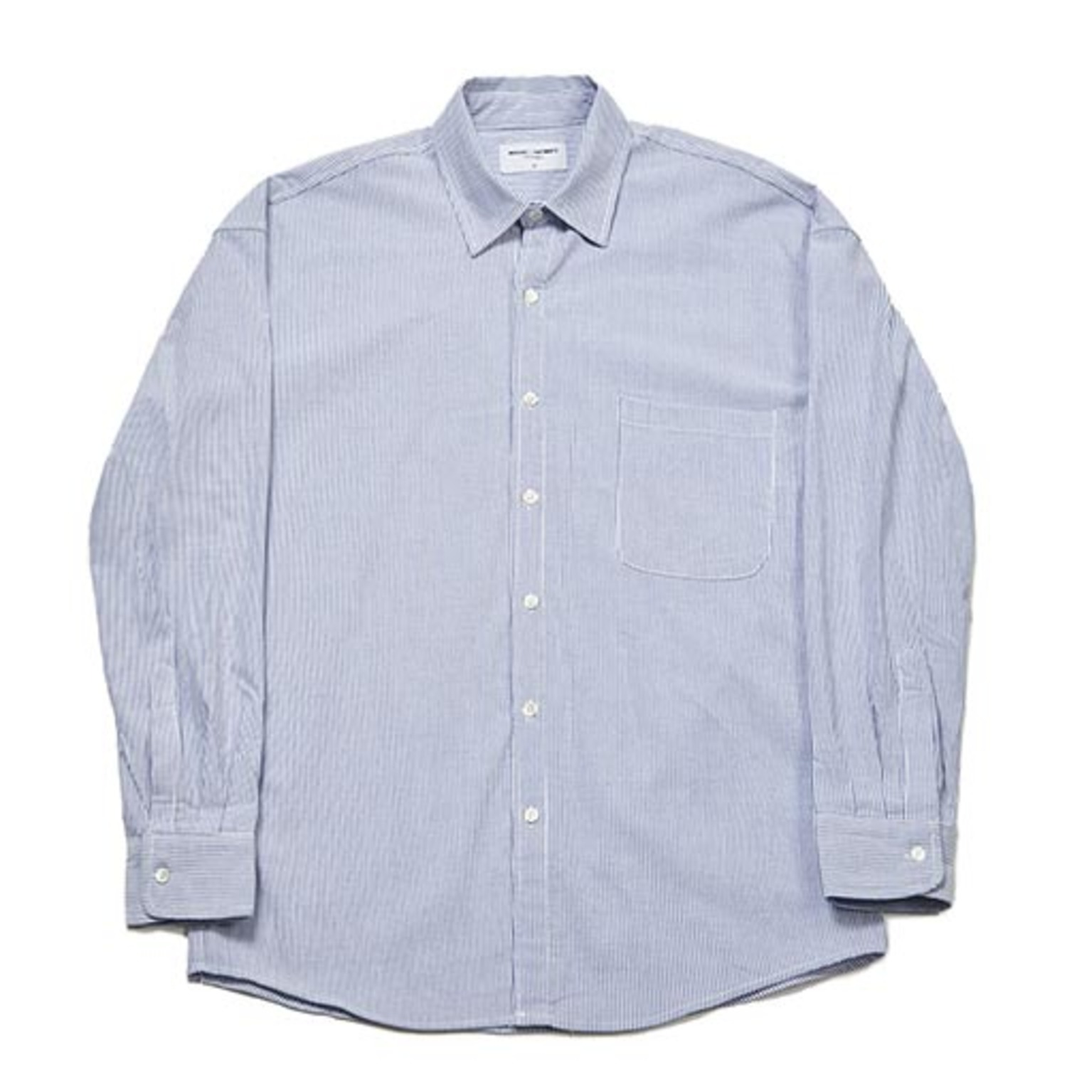 [PARTIMENTO x 86]Semiover Stripe Shirts (Navy)(20%SALE)