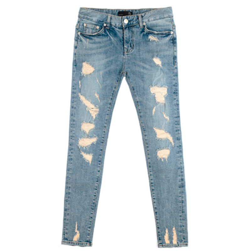 86RJ-1602 damage washing destroyed jeans(SALE20%)
