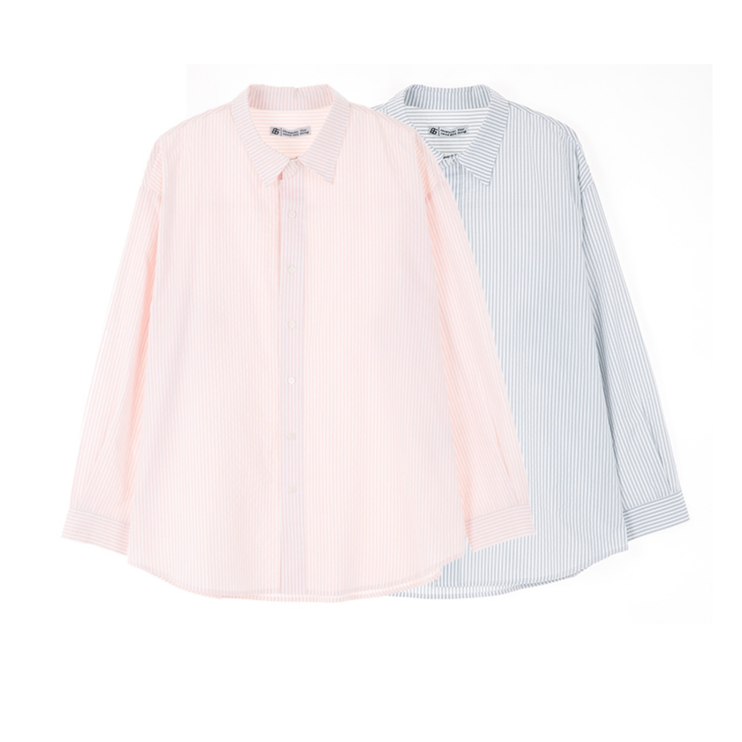 BREEZE STRIPE SHIRTS (GREY, PINK)