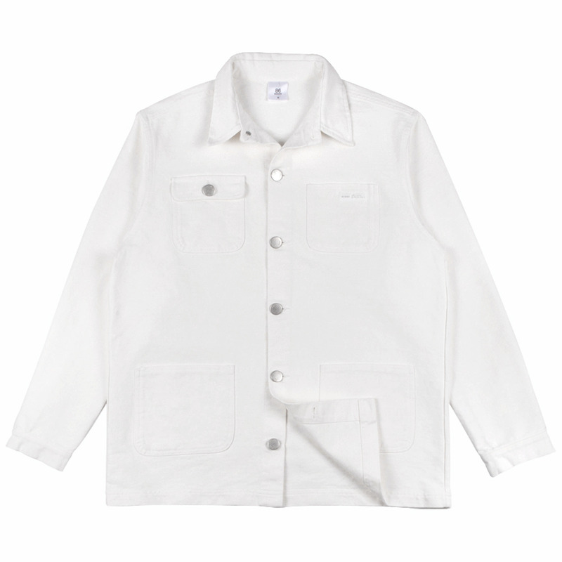 86RJ-2713 Boxy cotton coach jacket _ivory