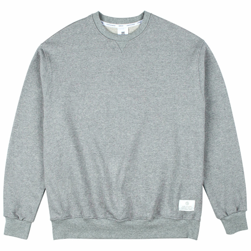 86RJ-2710 17simple sweat shirt _grey