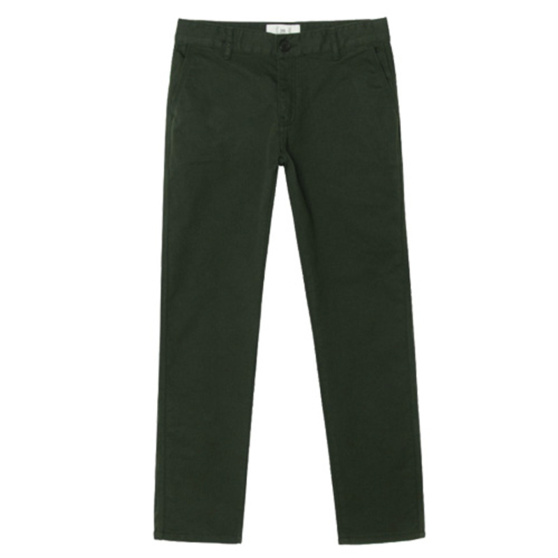 86RJ-1702_khaki wide basic COTTON PANTS