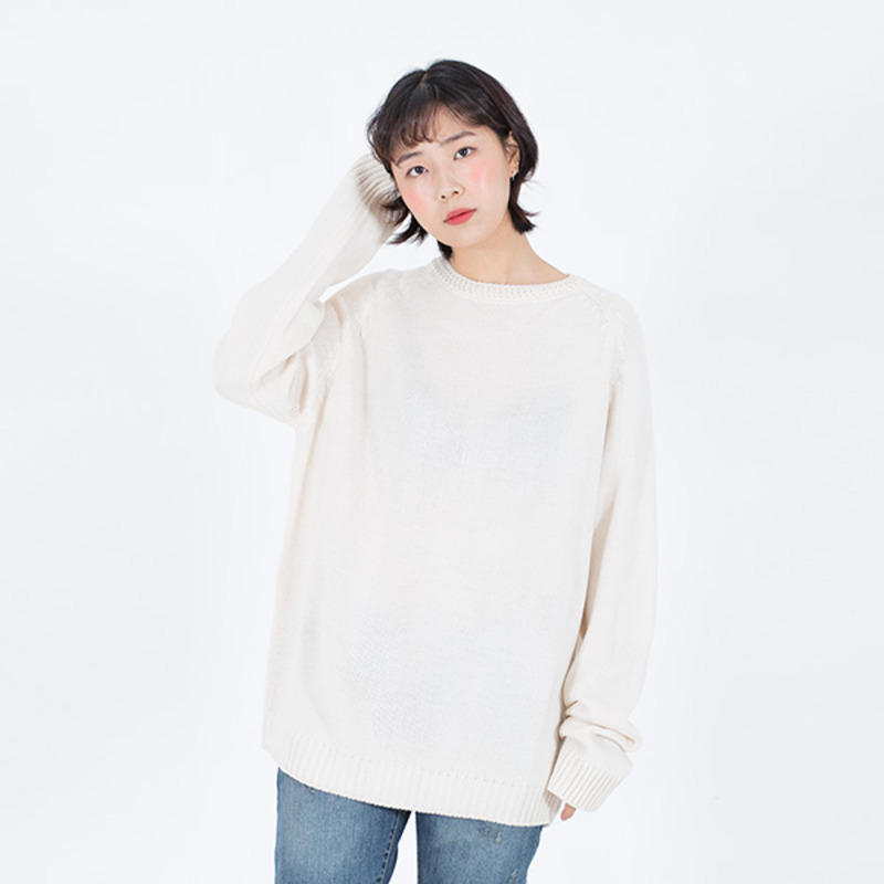 86RJ-2711 loose basic knit _ivory