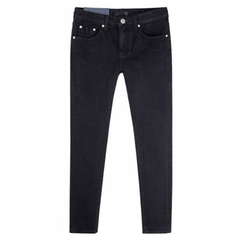 [BEST]1672 basic black jeans(black)