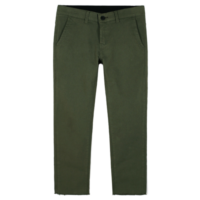 1803 Cutting cotton pants(Khaki) / slim