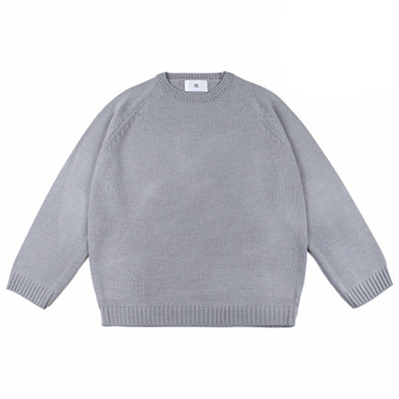 86RJ-2711 loose basic knit _grey