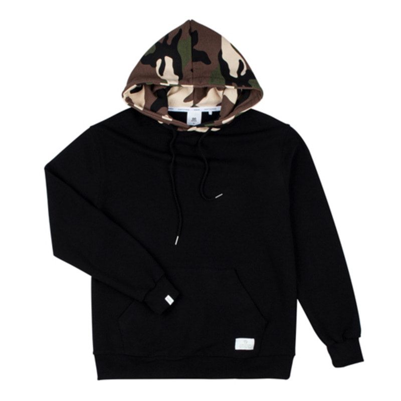 86RJ-2708 hood military point hoody _black