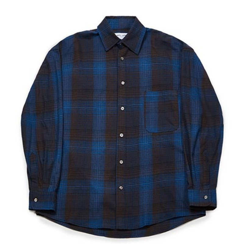 [PARTIMENTO x 86]Semiover Basic Check Shirts (Blue)(20%SALE)