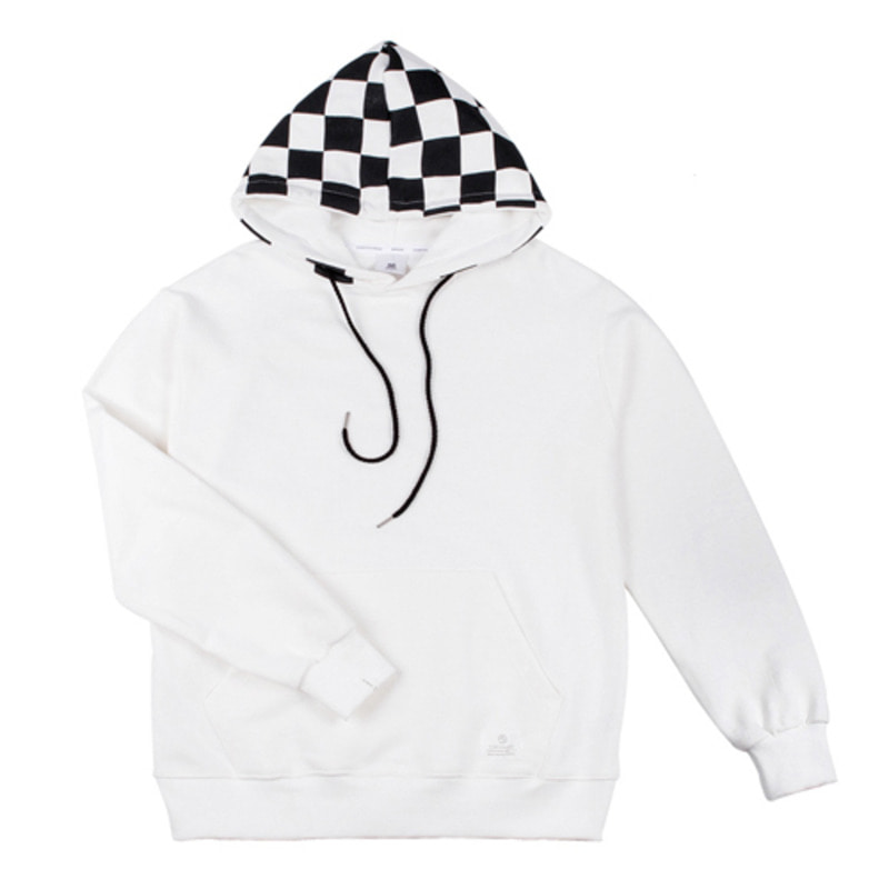 86RJ-2709 hood check point hoody _white