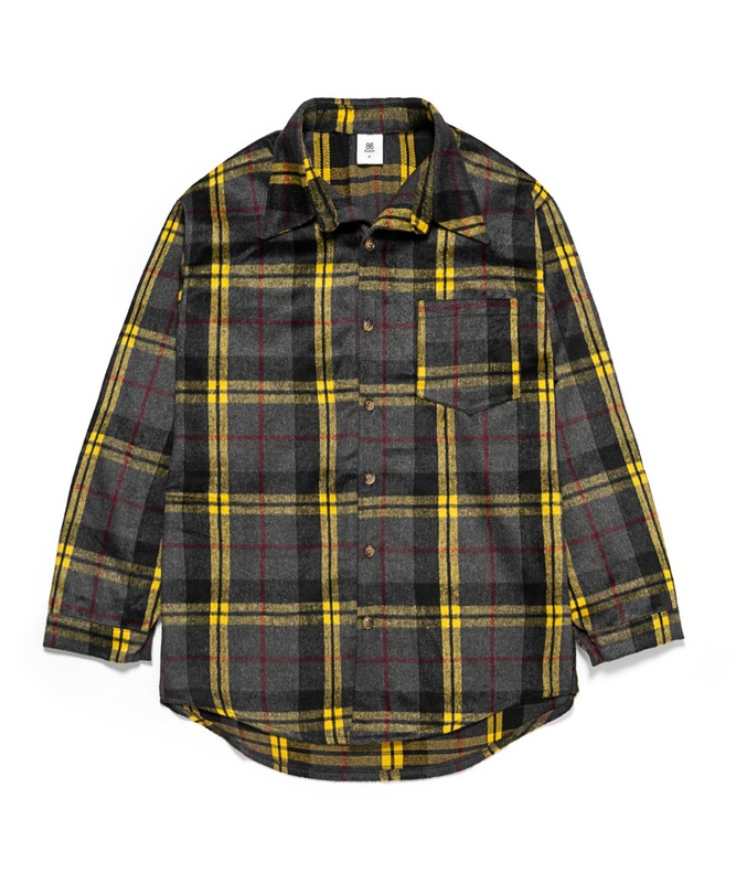 Napping Wool Check Shirts - Yellow
