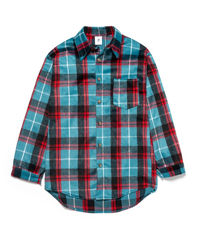 Napping Wool Check Shirts - Blue(40%SALE)