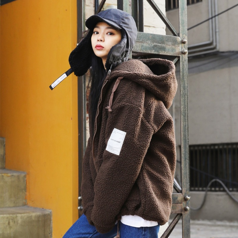 BOA HOOD ZIP-UP(Brown)