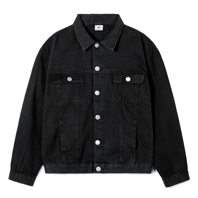 STANDARD TRUCKER JACKET(Black)(20%SALE)