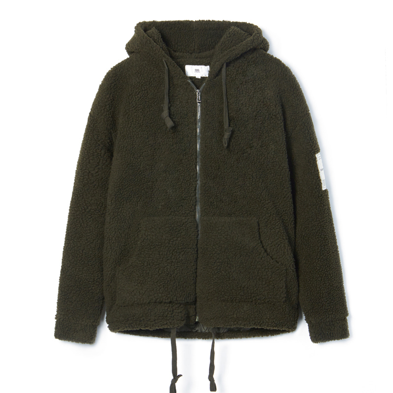BOA HOOD ZIP-UP(Khaki)(50%SALE)