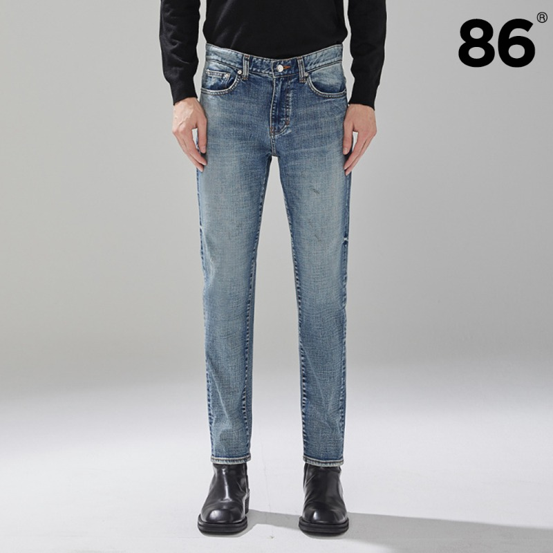 [BEST]1603 stone washing jeans / slim