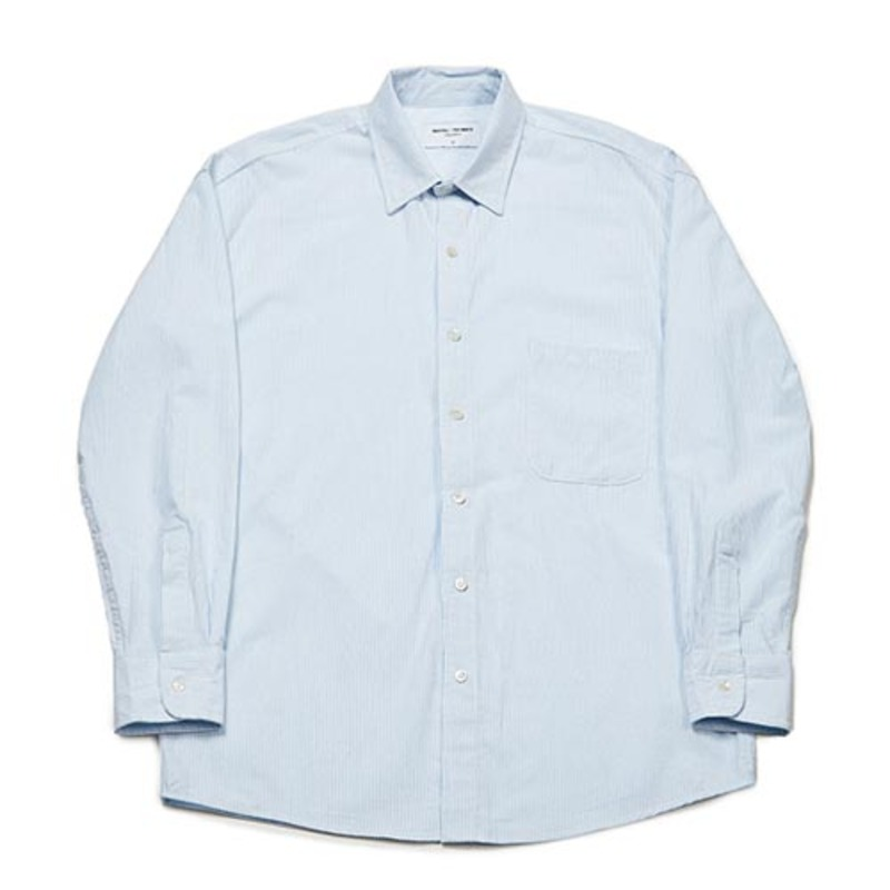 Semiover Stripe Shirts (Blue)