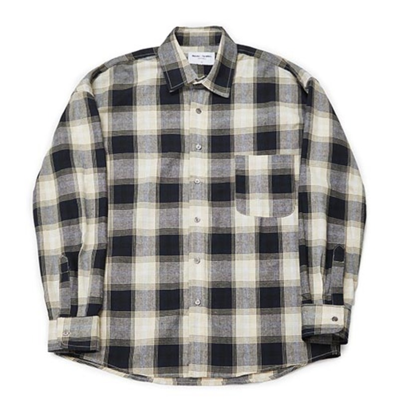 Semiover Plaid Check Shirts (Beige)